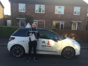 Congratulations to Rogan from Cambridge who passed on the 23-12-15 after taking driving lessons with MRL Driving School