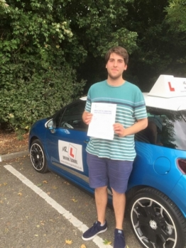 Congratulations to Tim Weaving from Ely who passed 1st time in Cambridge on the 2-9-16 after taking driving lessons with MRL Driving School