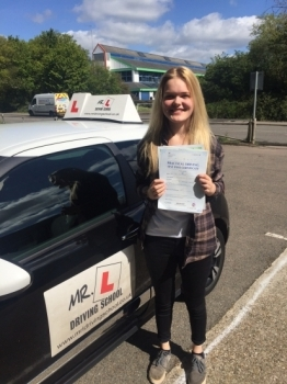Congratulations to Aaliyah Plattern from Ely who passed first time in Cambridge on the 3-5-16 after taking driving lessons with MRL Driving School