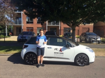 Congratulations to Jordan Blyth from Cambridge who passed 1st time on the 24-8-16 after taking driving lessons with MRL Driving School