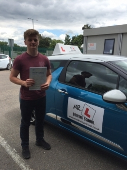 Congratulations to James from Ely who passed 1st time in Cambridge on the 5-7-16 after taking driving lessons with MRL Driving School