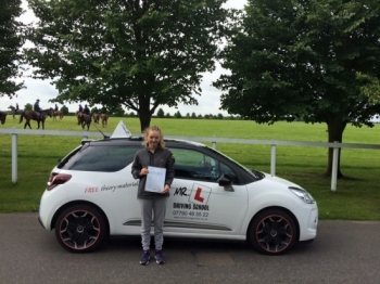 Congratulations to Charlotte from Newmarket Having failed previously with a different driving school Charlotte successfully passed at the 1st attempt with MRL Driving school on the 29-6-16 in Bury St Edmunds