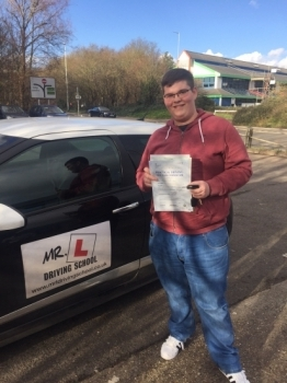 Congratulations to Sam Gooby from Sutton who passed 1st time in Cambridge on the 9-2-16 after taking driving lessons with MR L Driving School