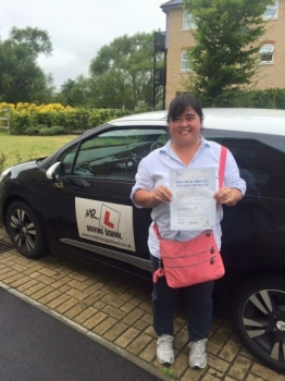 Congratulations to Kristin from Soham who passed in Cambridge on the 2-8-16 Having failed previously with another driving school Kristin passed at the 1st attempt with MRL Driving School