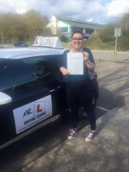 Congratulations to Mia Turner from Ely who passed in Cambridge on the 30-3-16 after taking driving lessons with MRL Driving School