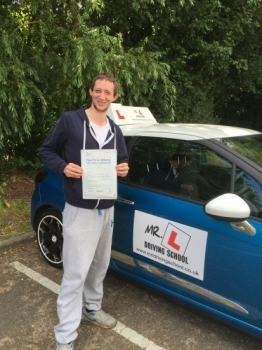 Congratulations to Jared from Burwell who passed in Cambridge on the 5-7-16 after taking driving lessons with MRL Driving School