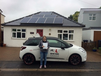 Congratulations to Chloe from Newmarket Having failed recently with another driving school Chloe passed 1st time with us in Cambridge on the 20-6-16