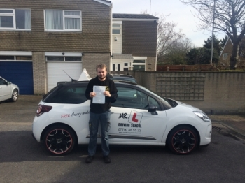 Congratulations to David from Bar Hill who passed in Cambridge on the 1-4-16 after taking driving lessons with MRL Driving School