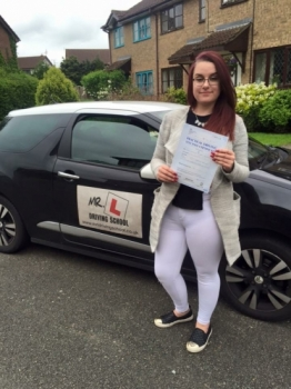 Congratulations to Natalya Jejna from Huntingdon who passed in Cambridge on the 26-5-16 after taking driving lessons with MRL Driving School