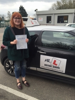 Congratulations to Codie Butcher from Littleport who passed 1st time on the 16-3-16 after taking driving lessons with MRL Driving School
