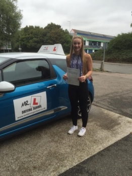 Congratulations to Rosie Hazelwood from Newmarket who passed 1st time in Cambridge on the 5-9-16 after taking driving lessons with MRL Driving School