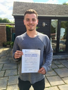 Congratulations to Dan Webb from Over who passed in Cambridge on the 31-7-16 after taking driving lessons with MRL Driving School