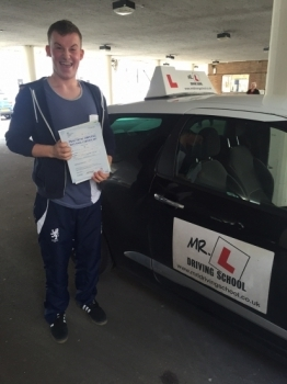 Congratulations to Ash Clark from Soham who passed 1st time in Cambridge on the 3-3-16 after taking driving lessons with MRL Driving School