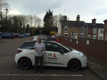 Congratulations to Len Smith from Newmarket who successfully regained his full driving licence after passing the extended driving test at the 1st attempt in Bury St Edmunds on the 14-4-16